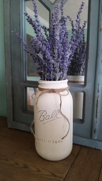 Lavender mason jar table decor – Stacy Turner Creations
