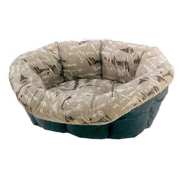 Ferplast Spare Sofa 10 İmza Desenli Kedi ve Köpek Yatağı 103.5x78x28.5 cm