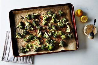 Tahini Roasted Broccoli Recipe on Food52, a recipe on Food52. I really like the flavour of this. It is not the prettiest dish, but then neither is just plain roasted broccoli.