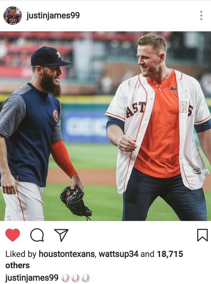 JJ Watt's Instagram - 4.29.17 - Throwing out the 1st pitch at the Astros game - #HTownPride #DreamBigWorkHard #HuntGreatness #JustAKidFromPewaukee #Justincredible