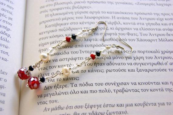 Retro earrings by RenatasArt on Etsy, €12.00