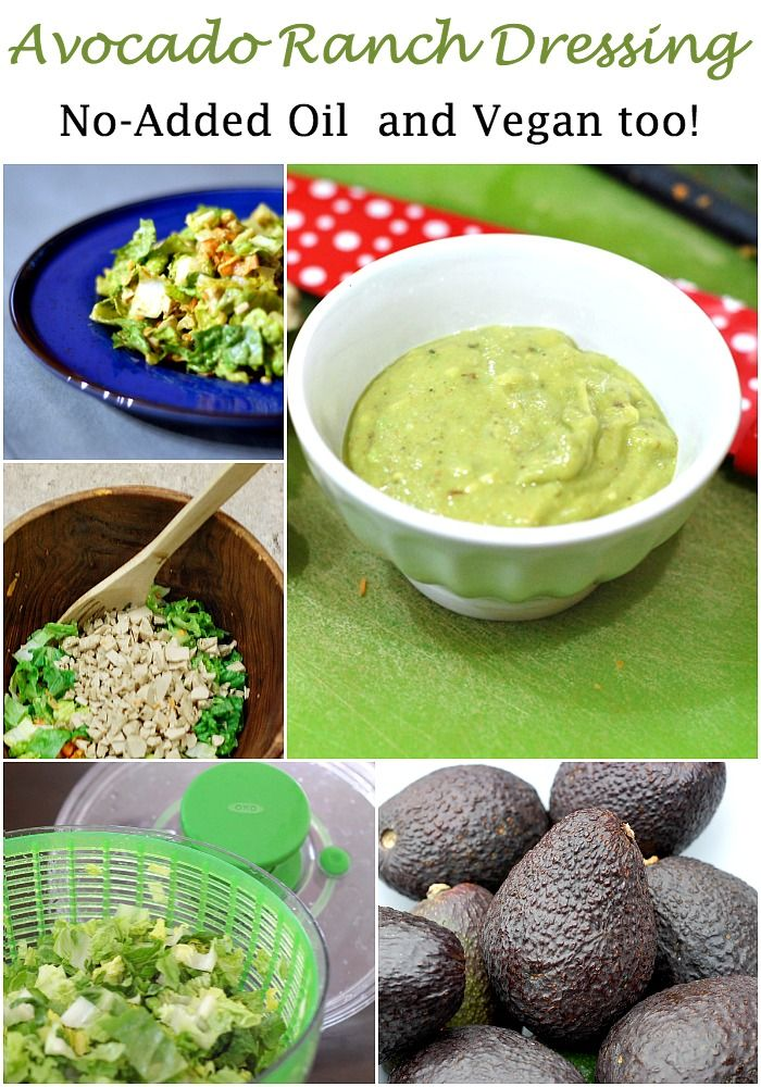 No-Added Oil Avocado Ranch Dressing