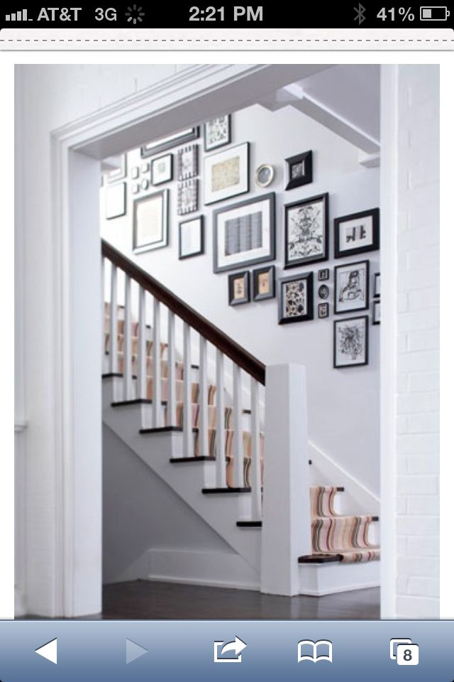 Pictures along staircase... I want to do this!