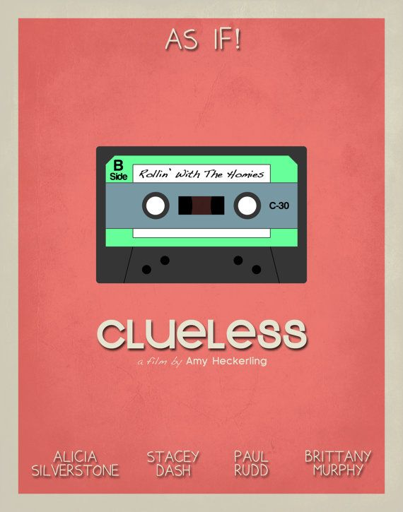 Clueless Inspired Minimalist Movie Poster by EntropyTradingCo