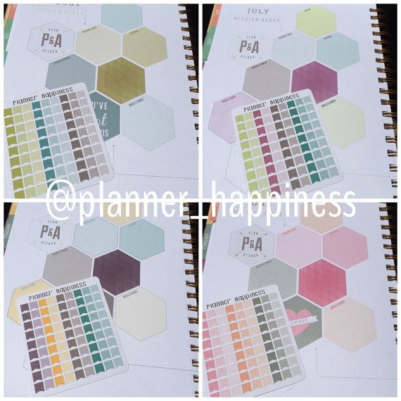 2 Sheets of Micro Flag Planner Stickers | Inkwell Press Planners| You choose color set | PH095