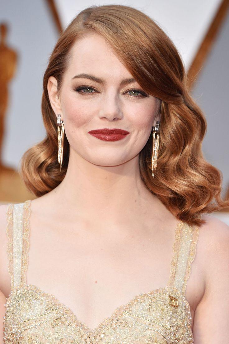 Emma Stone @ Oscars 2017 - ELLE Beauty: Looks | Pinterest ...