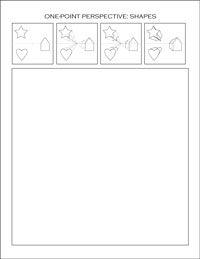 Shapes: Perspective Handout, High School, Art Worksheet, One Point Perspective Lesson, Perspective Drawing Lesson, Perspective Worksheet, Perspective Art Lesson, Drawing Worksheet