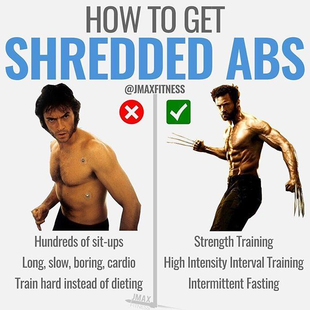 """HOW TO GET SHREDDED ABS by @jmaxfitness - Claim your """"Hollywood Diet"""" (like the one Hugh Jackman used to get shredded abs) via the link in my bio. - One of the most impressive 6-pack transformations Ive seen in Hollywood was Hugh Jackman for his role in Wolverine. - The transformation from the original X-Men movie to the latest movie Logan is incredible. - His abs are incredible. - It turns out he had a dirty little 6-pack secret and it involved his diet. - You see Jackman used Intermittent…"""