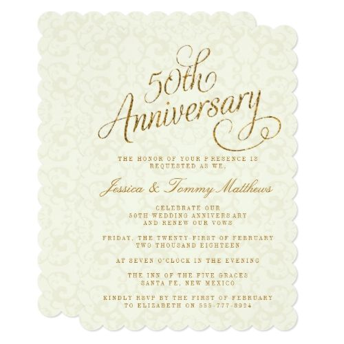 Golden Wedding Anniversary Invitations Wording: 129 Best 50th Wedding Anniversary Invitations Images On