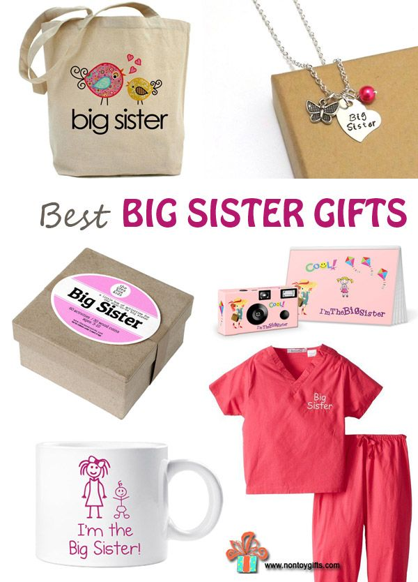 Best 11 big sister gifts from baby. So many great gifts to make big sisters feel special and prepare them for sisterhood. | at Non Toy Gifts