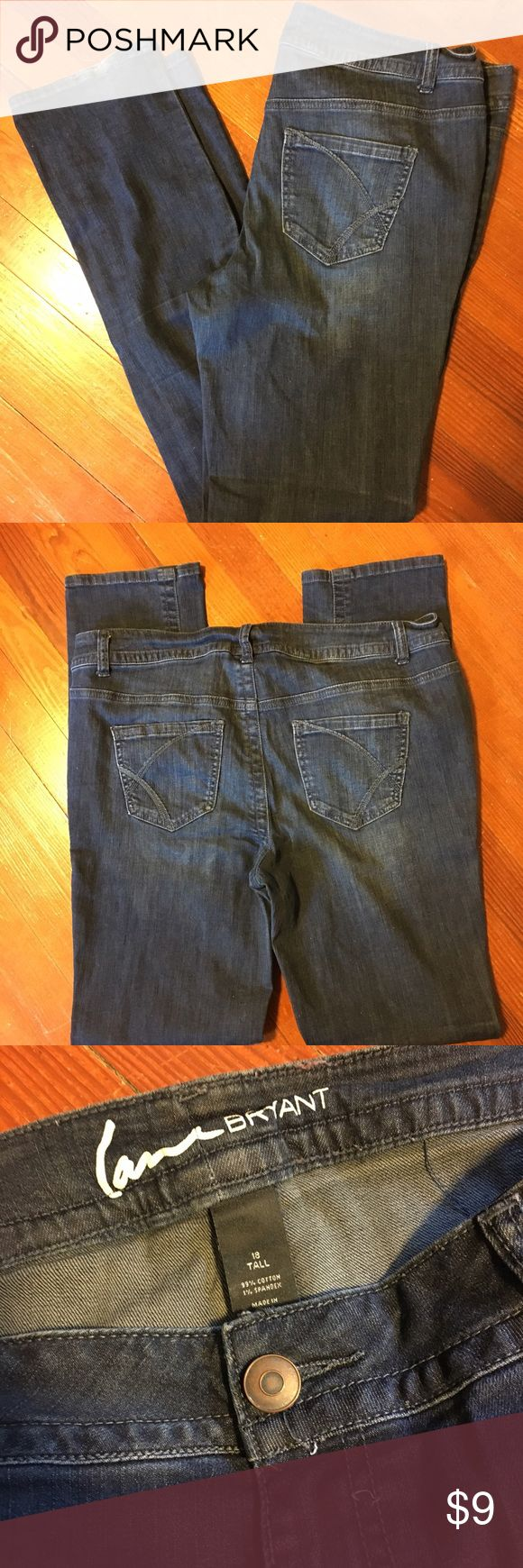 Lane Bryant 18 Tall women's Jeans In used condition. Some wear on the bottom. Great jeans! I offer discounts on bundles so be sure to check out my closet! Lane Bryant Jeans Straight Leg