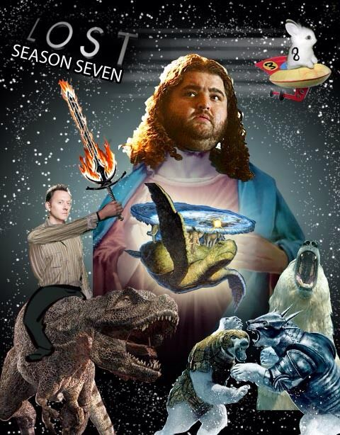 LOST Season 7. Where Lord Hurley reigns over the island, and all polar bears that roam it.  And then Ben just ride...