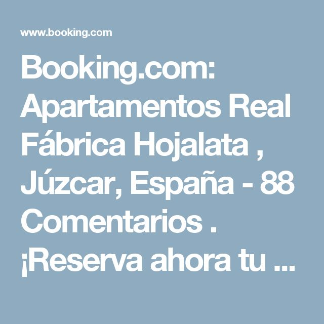Booking.com: Apartamentos Real Fábrica Hojalata , Júzcar, España  - 88 Comentarios . ¡Reserva ahora tu hotel!