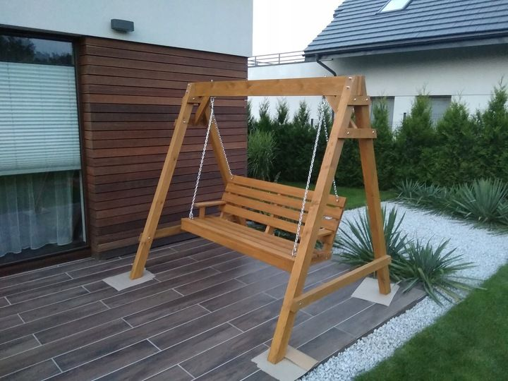 Hustawka Ogrodowa Drewniana 7754986505 Oficjalne Archiwum Allegro Porch Swing Outdoor Decor Outdoor Furniture
