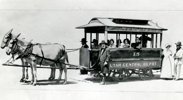 This car made regular trips in Salt Lake in the early 1880s. That was before the city had electric trolleys. The only way the patrons could tell which end was which was by the motive power. The mules were on the front end. When they reached the end of the line, they were hitched to the other side for the return trip. The end of the line was 200 West and 500 South.: Historical Photo, Cars, Early 1880S, Lakes Cities, The Cities, Salts Lakes, Ears 1880S, Regular Trips, Electric Trolley