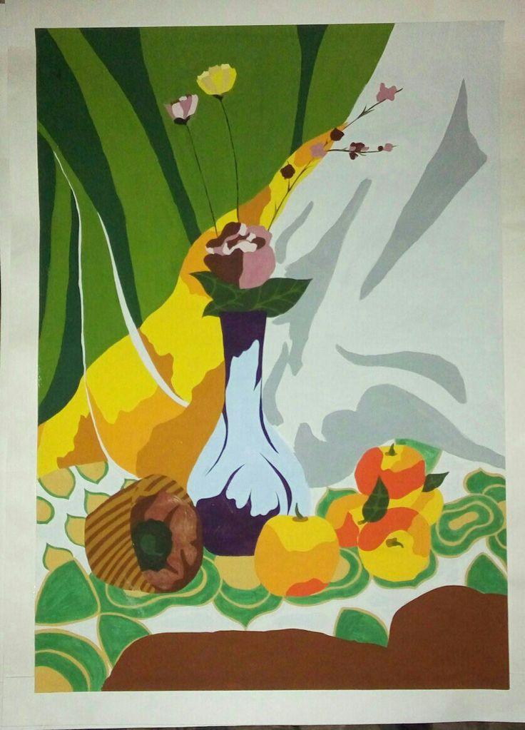 #декоративнаяживопись #живопись #стилизация #натюрморт #рамка #вазасцветами #фрукты #драпировки #artbyanyamouse #drawing #study #постановка #artist #painter #art #justdoit