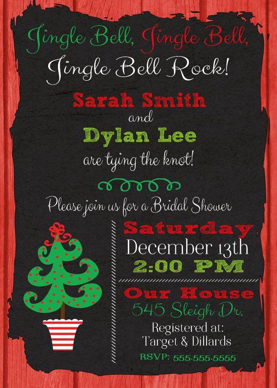 Christmas Bridal Shower Invitation Christmas Wedding by DaxyLuu