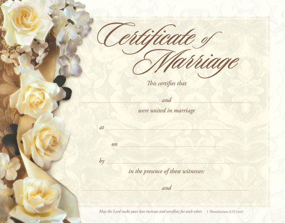marriage papers