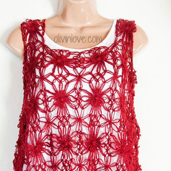 Red top by OLIVINLOVE on Etsy