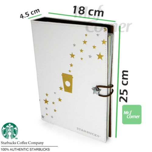 SA048-Starbucks-Gift-Rewards-xmas-new-year-Card-collection-Leather-book-with-box
