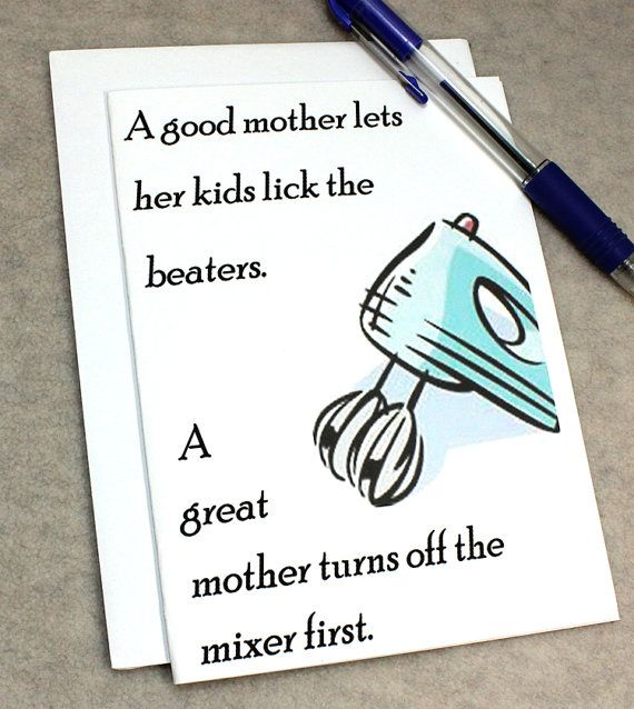 Catty Cards Greeting Cards. Mothers Day Card. Card for Baker. Card for Cook. Blank Greeting Card for Mom. I Love You Mother. Hand Helded Mix