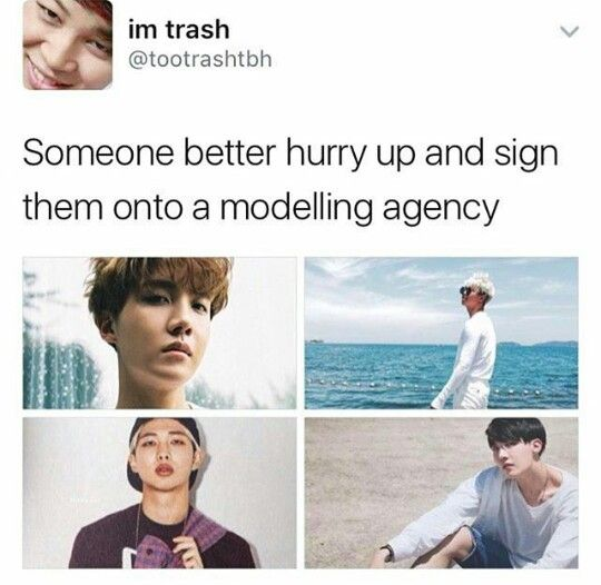 lemme create a modelling company;)