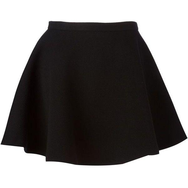 Neil Barrett Mini a-Line Skirt ($493) ❤ liked on Polyvore featuring skirts, mini skirts, bottoms, saias, black, a line skirt, high waisted a line skirt, a line mini skirt, black flounce skirt and ruffle skirt