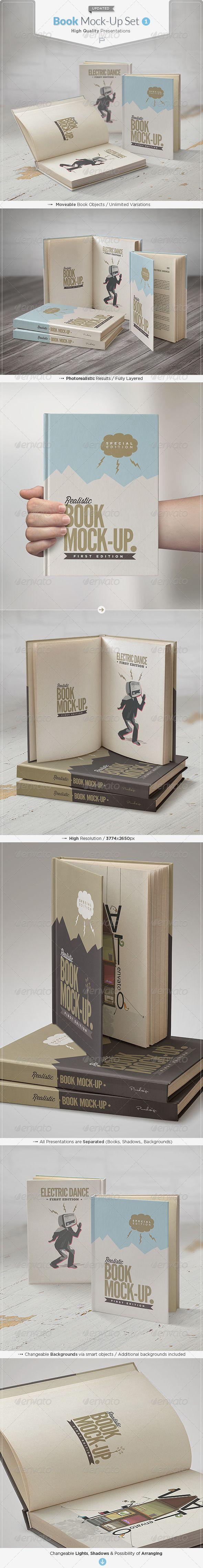 Book Mock-Up Set #bookmockup #mockup Download: http://graphicriver.net/item/book-mockup-set/5237157?ref=ksioks