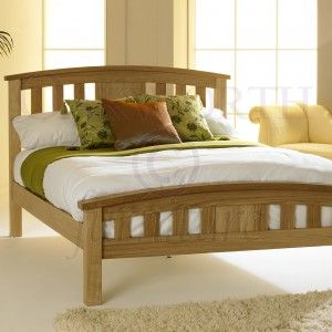 Royal Ascot Solid Oak Bed Frame 6ft - Super King. To find out more visit http://www.oakworthfurniture.co.uk/royal-ascot-solid-oak-bed-frame-6ft-super-king.html#.UpofIcS-2m4