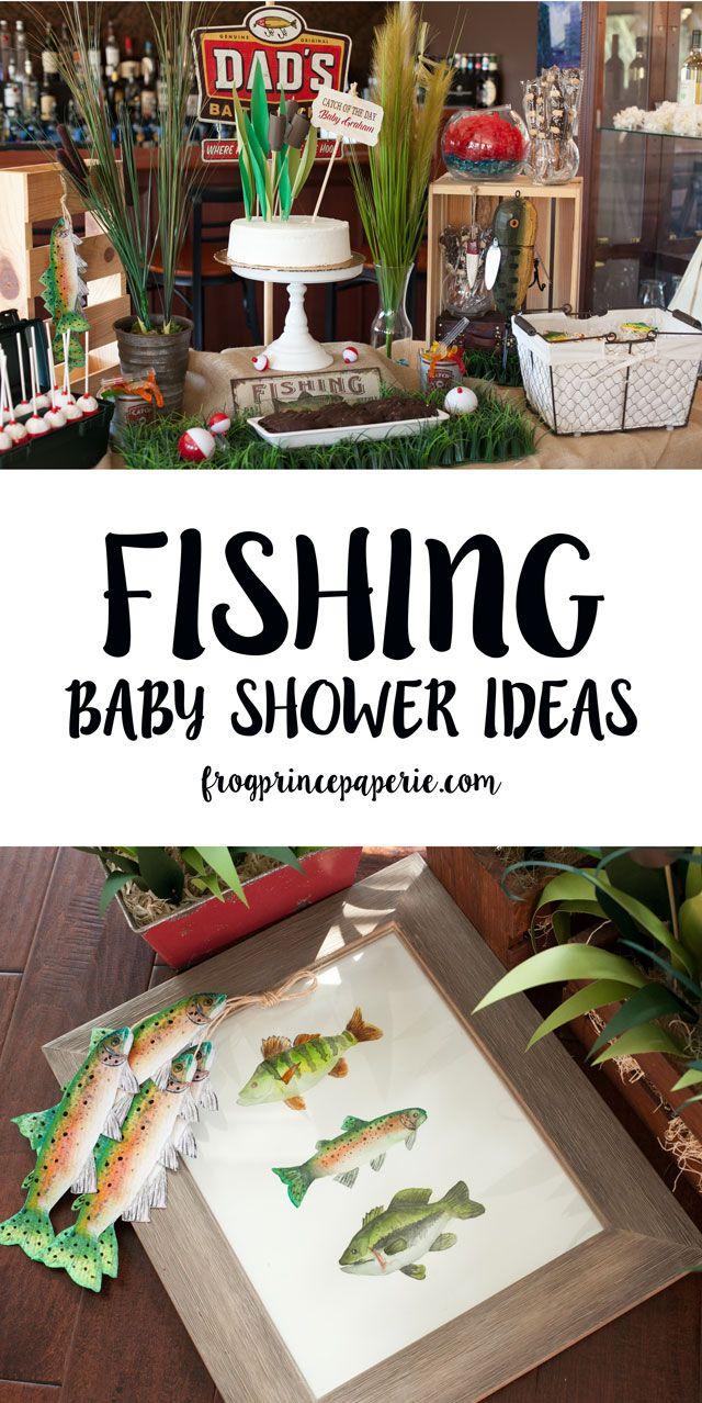 Watercolor Fishing Baby Shower ideas