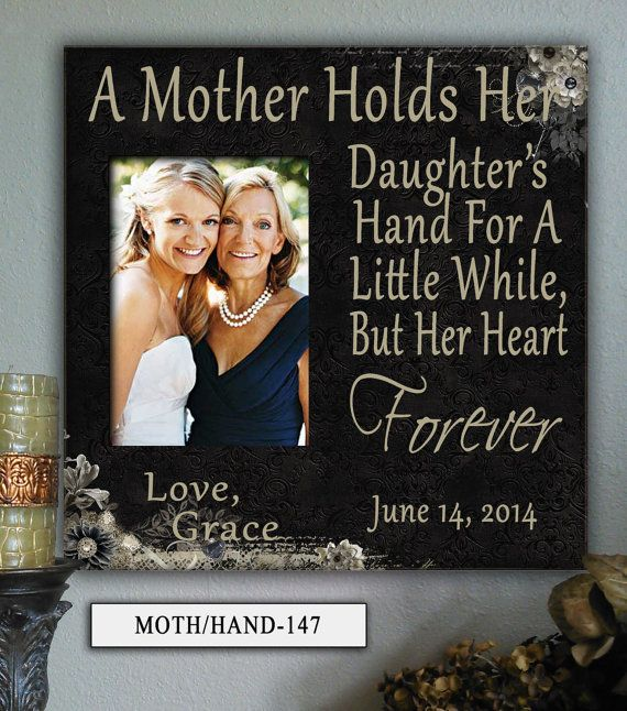 MOTH HAND12x12 Holds 5x7 Photo Mother In Law Mom Mothers Day Frame Personalized Wedding Gifts For Parents Gift Of Bride