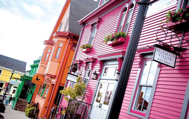 The brightly colored shops of Lunenburg, Nova Scota