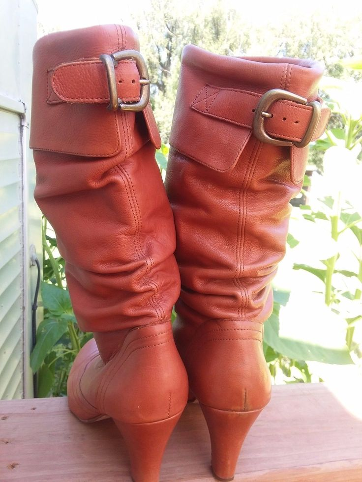 Steve Madden Women's Legion Scrunch Boot,Cognac Leather Sz 10 M  | Clothing, Shoes & Accessories, Women's Shoes, Boots | eBay!