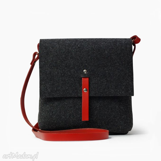 torebka filcowa na ramię. $34