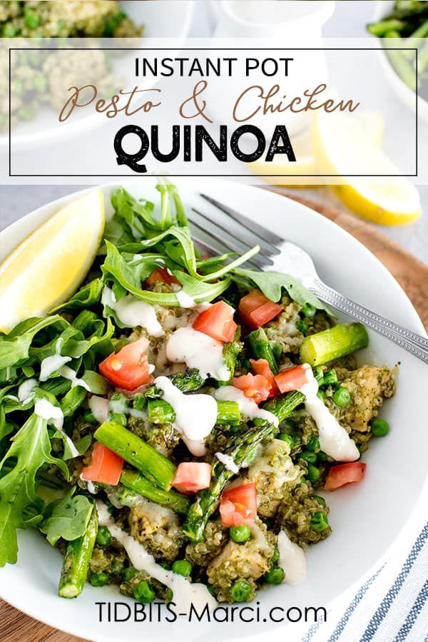 Instant Pot Pesto Chicken And Quinoa Recipe In 2020 Pesto Chicken Easy Healthy Recipes Instant Pot Recipes