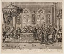 het edict van nantes werd in 1598 uitgeroepen door Hendrik IV. in het edict stond dat iedereen in zijn rijk mocht geloven waarin ze wilden geloven waaronder de protestandse hugonoten die onderdrukt warden.
