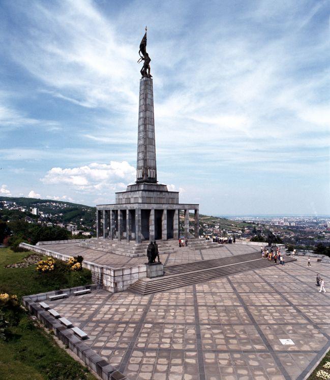 Slavín monument in Bratislava, commemorates fallen Soviet soldiers during the World War II