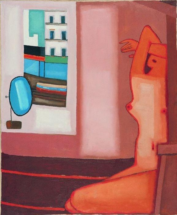 Jerzy Nowosielski, Akt z oknem, 1965, olej na płótnie, 120 cm x 100 cm, w zbiorach Muzeum Narodowego we Wrocławiu, fot. pracownia fotograficzna MNWr