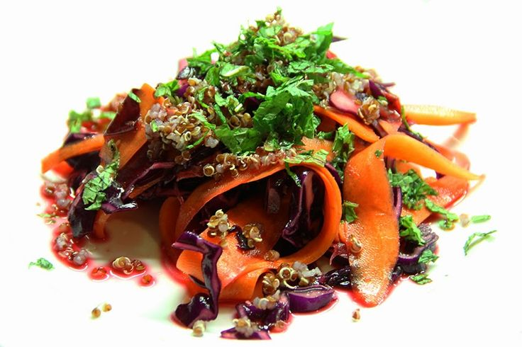 Rezept   Salat   Rotkraut   Karotten   Rote Rüben   Yuzu   Quinoa   gesunder Salat   vegan   vegetarisch   soap kitchen style   Blog