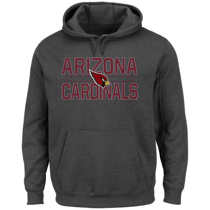 Arizona Cardinals Majestic Big & Tall Kick Return Pullover Hoodie - Charcoal