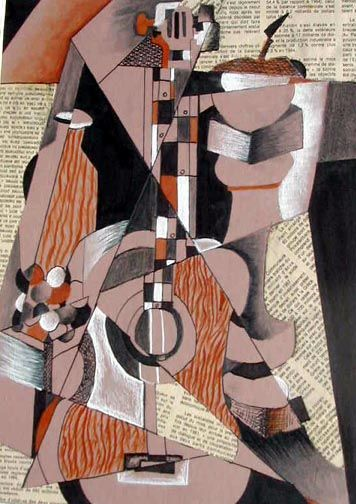 Art Lesson: Cubism Mixed Media Collage