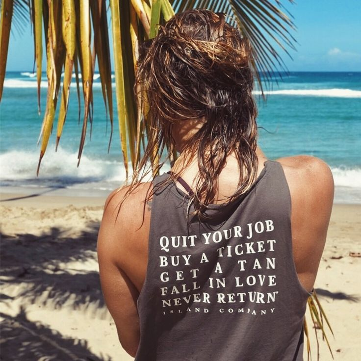 Quit your job tank | Island Company X Goldfish Kiss