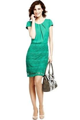 Per Una Pure Cotton Lace Shift Dress