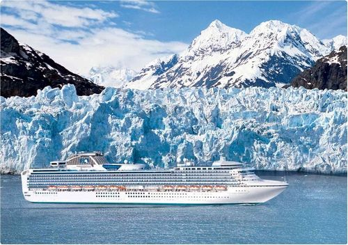 Sapphire Princess. Our first 7 day cruise to Alaska, round trip from Seattle.  Also our honeymoon cruise.