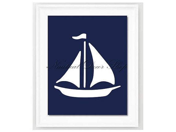 Instant Download Sailboat Print, Nautical Art, Sailboat Nursery Wall Art, Nautical Nursery, Nautical boat Downloadable Nursery Decor on Etsy, $2.95