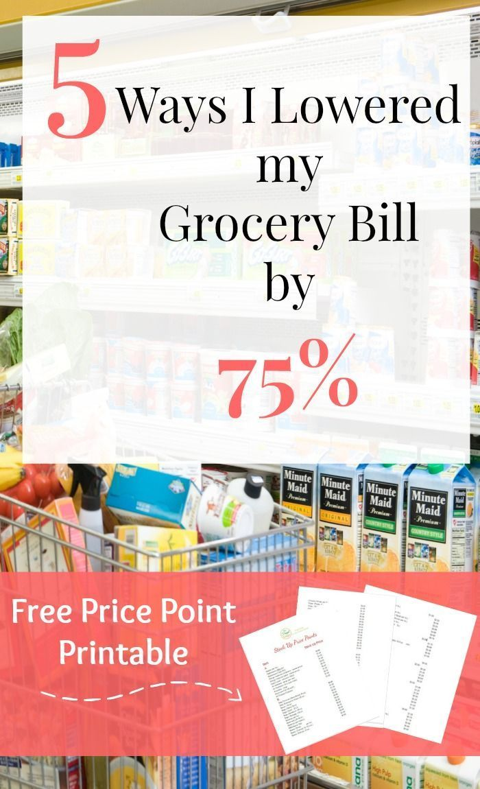 Use these tips to lower your grocery bill and save on your budget. Includes a free stock up price printable for you to use.