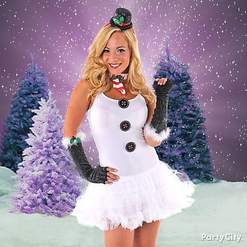 Mix and match to create a fun snowman costume - a flirty SantaCon costume idea that'll melt hearts everywhere you go.
