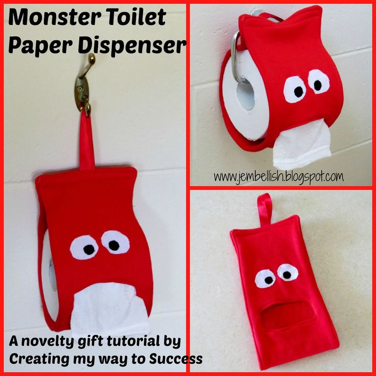 Creating my way to Success: Monster Toilet Paper Dispenser - a novelty gift tutorial