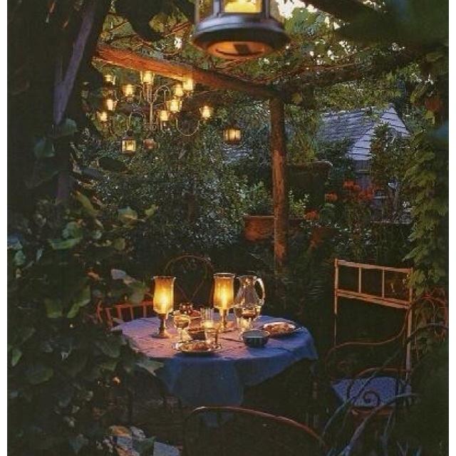 Romantic Dinner For 2 Outdoor Spaces Garden