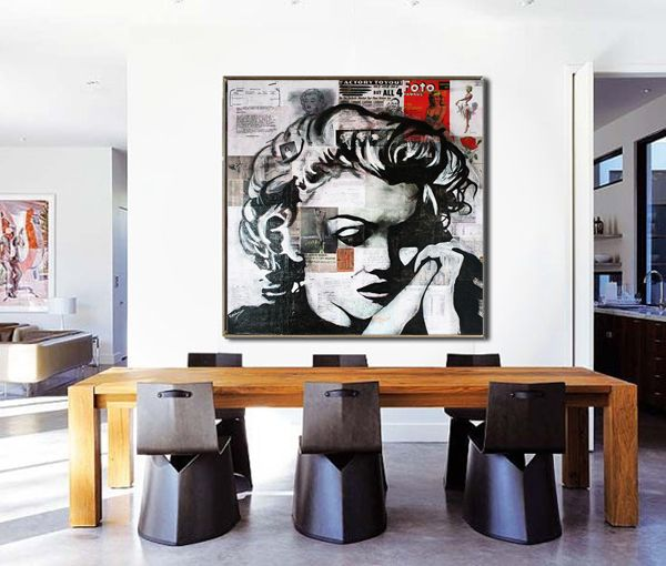 Marilyn MONROE Canvas, Marilyn Monroe Decor, Portrait De Star, Wall Art  Decor,